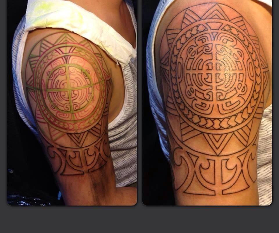 Shoulder Design Tattoo