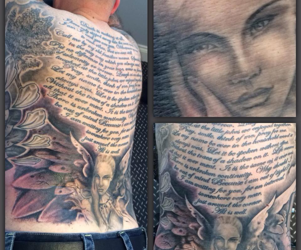 Back Face Tattoo